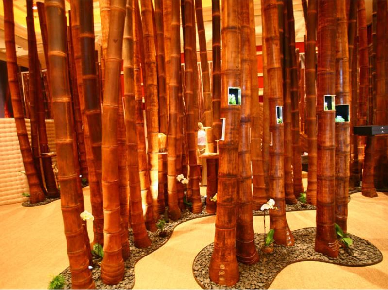 Bamboo Poles Clump Partition