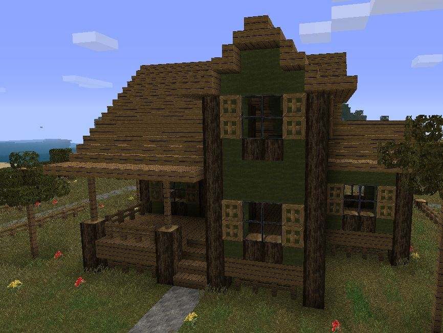 Images for minecraft farmhouse design minecraft building for Farm ranch home designs