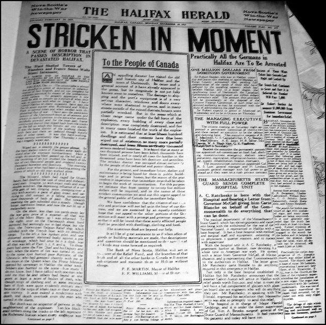 Halifax Article Explosion Newspaper