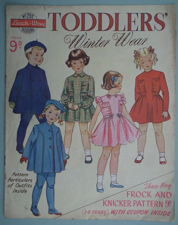 Vintage Sewing Patterns Catalog 1940s 1950s - Childrens Clothing ...