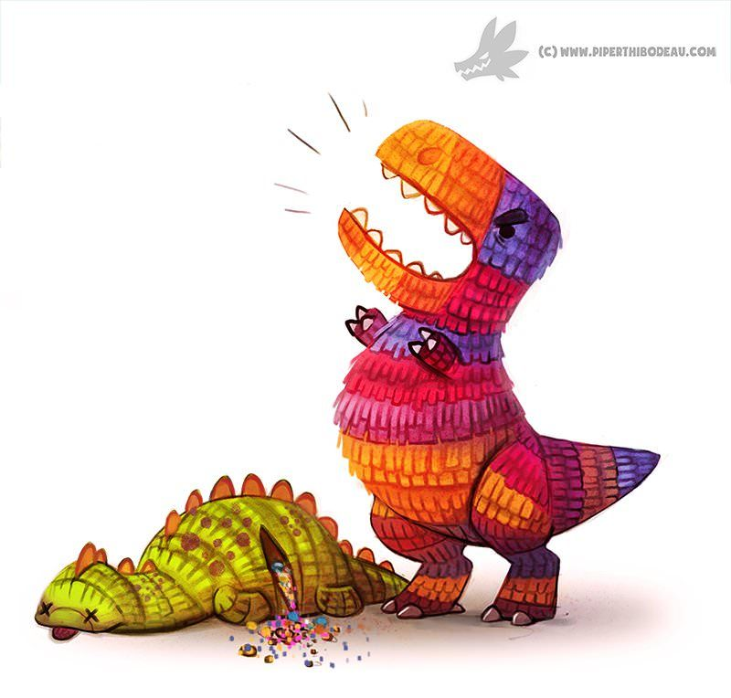Dinosaur Toy Kill #dinosaurillustration