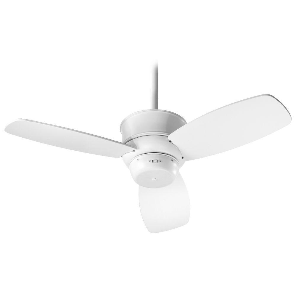 Quorum Lighting Gusto Studio White Ceiling Fan Without Light