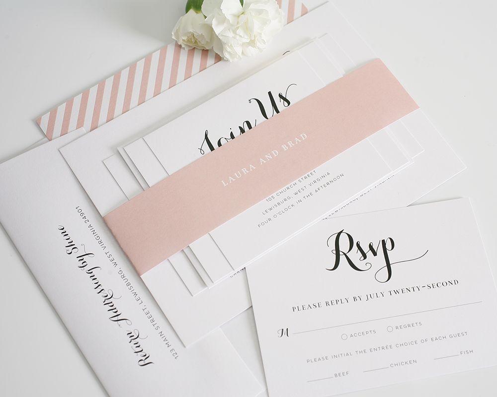 Romantic Blush Wedding Invitations | Blush weddings, Wedding theme ...