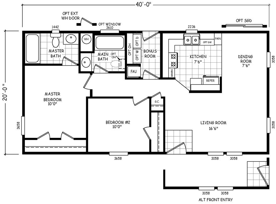 Durango 20 X 40 800 sqft Mobile Home