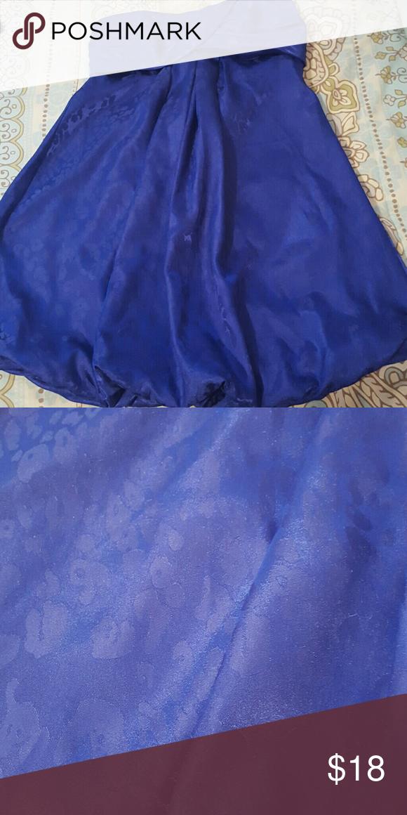 ✌{F21} Blue Silky Strapless Dress