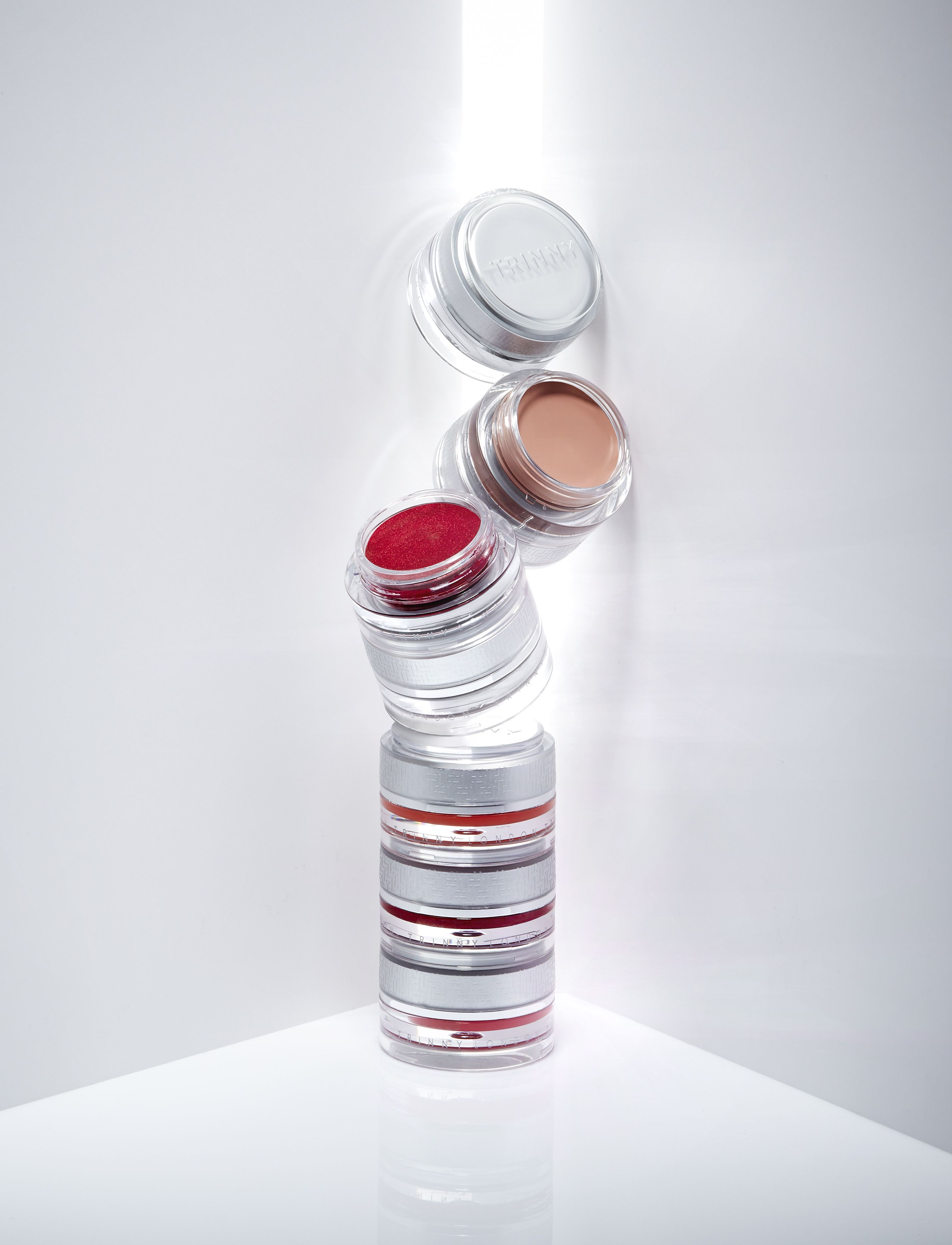 Trinny London, a stackable, portable, curated makeup range