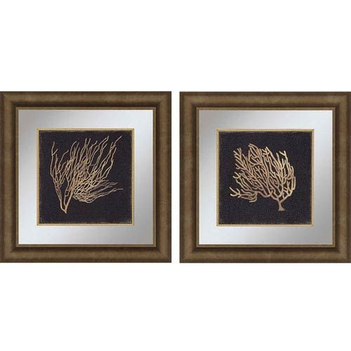 Paragon gold coral ii by wilson 23 x 23 inch wall art set