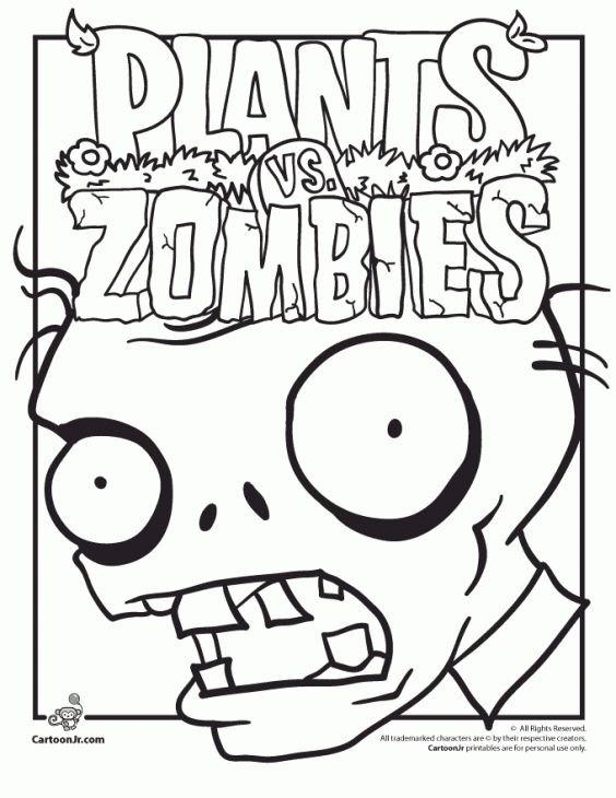 Free Printable Plants Vs Zombies Coloring Page - Letscolorit.com Plants  Vs Zombies Birthday Party, Zombie Birthday Parties, Plants Vs Zombies