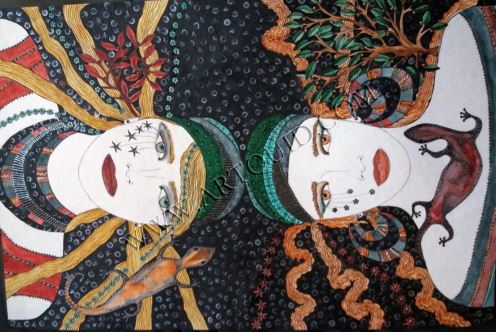 head in the stars - -- aquarelle ---- sophie bigard ---- artiste