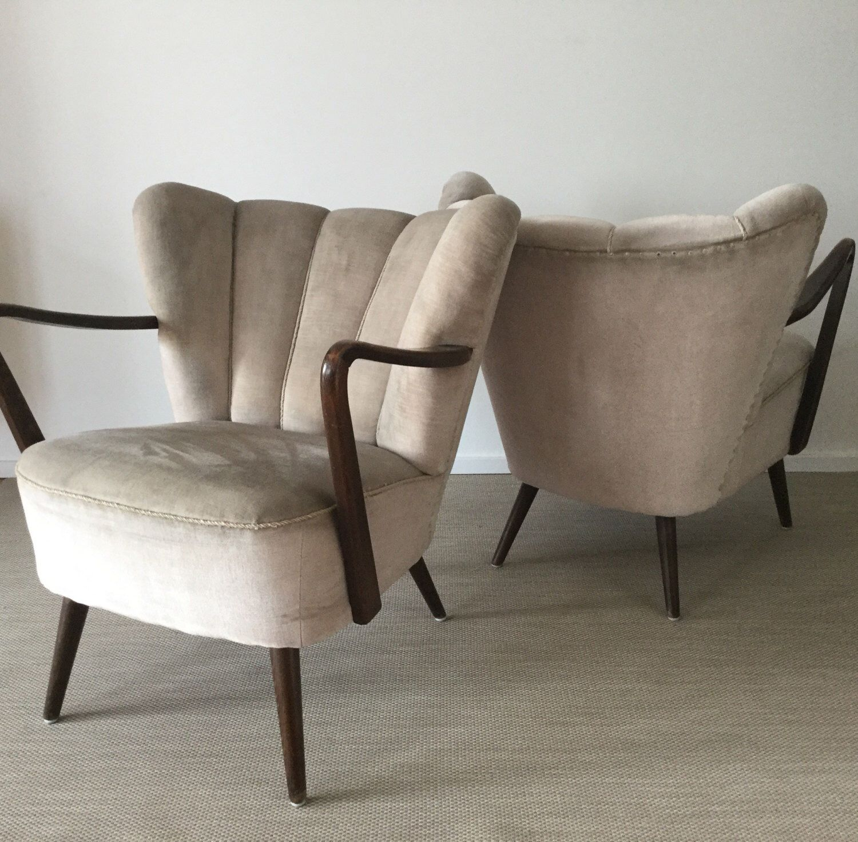 Mid Century 50er Jahre Cocktail Sessel Aus Samt Etsy Cocktail Chair Chair Furniture