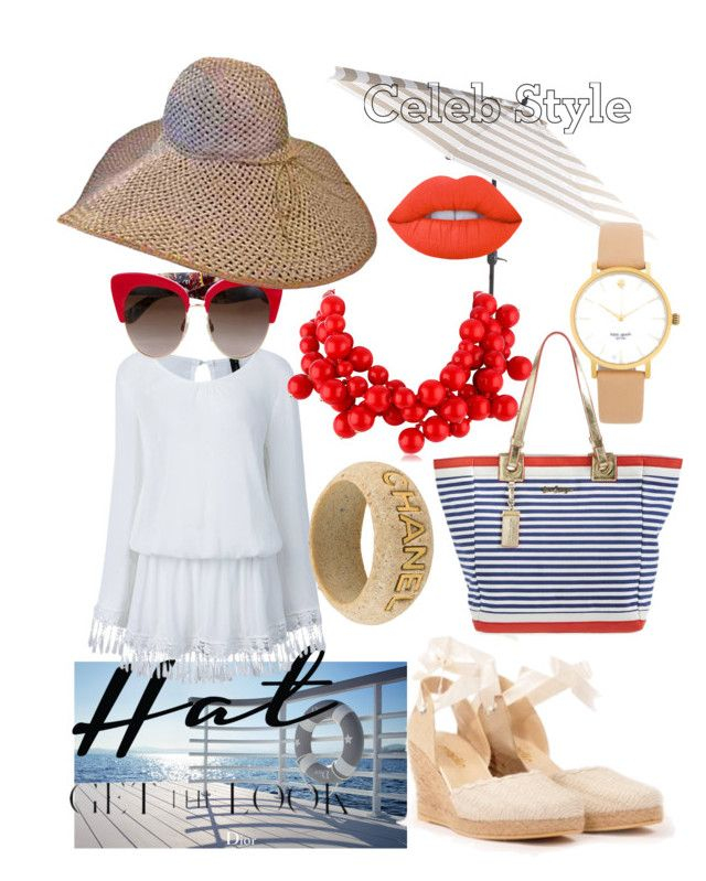 """City Walker Charming Hat"" by bvn01 ❤ liked on Polyvore featuring Christian Dior, Pier 1 Imports, Lilly Pulitzer, Dolce&Gabbana, Kenneth Jay Lane, Kate Spade, Chanel, GetTheLook and hats"