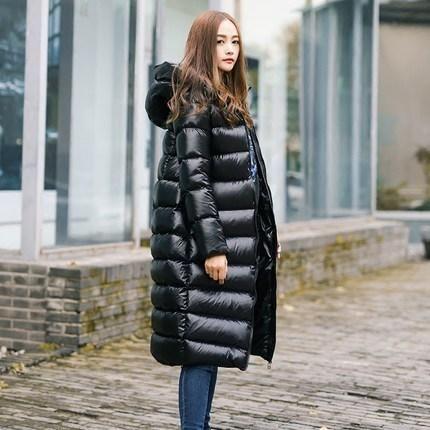 604666400fb LYL247 Parkas Long Zipper Waterproof Warm Female Coat Wadded Ladies jacket  Down Duck White Women