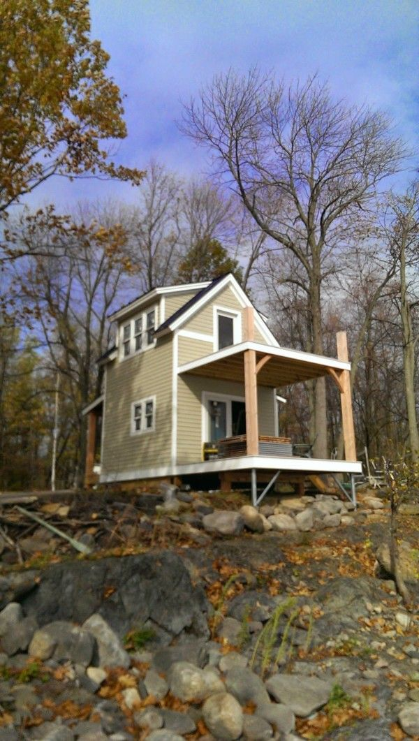 Two story tiny cabin on butler island in vermont houses and also rh pinterest