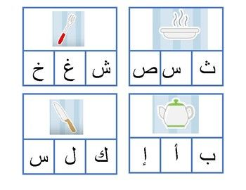 Kitchen Utensils  Arabic  Initial Letter Recognition And