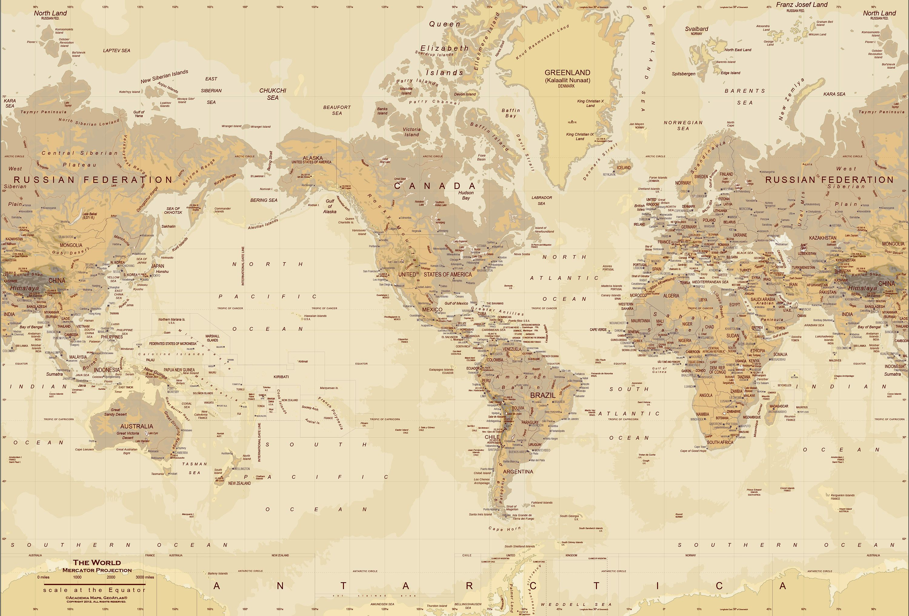 Tan world map map wall mural maps charts pinterest wall tan world map map wall mural gumiabroncs Image collections