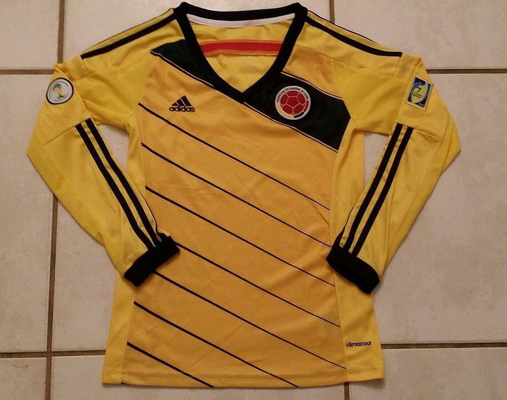 ddff5bc37 amazon adidas colombia home soccer jersey copa america centenario 2016 long  sleeve clothing  adidas colombia national team long sleeve soccer jersey  womens ...
