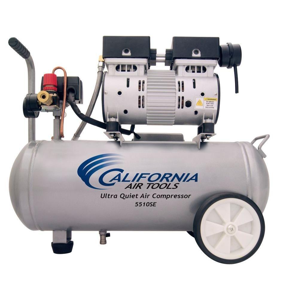 California Air Tools 5 5 Gal 1 0 Hp Ultra Quiet And Oil Free Air Compressor 5510se Best Portable Air Compressor Portable Air Compressor Air Tools