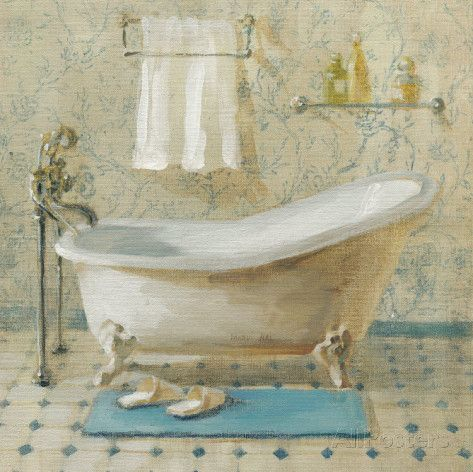 Victorian Bath III Arte por Danhui Nai na AllPosters.com.br