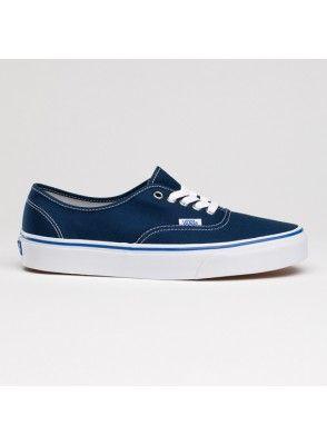 Vans Chaussures Authentique Core Classique Canevas Sneakers Bleu Marine - Canvas Shoes Online