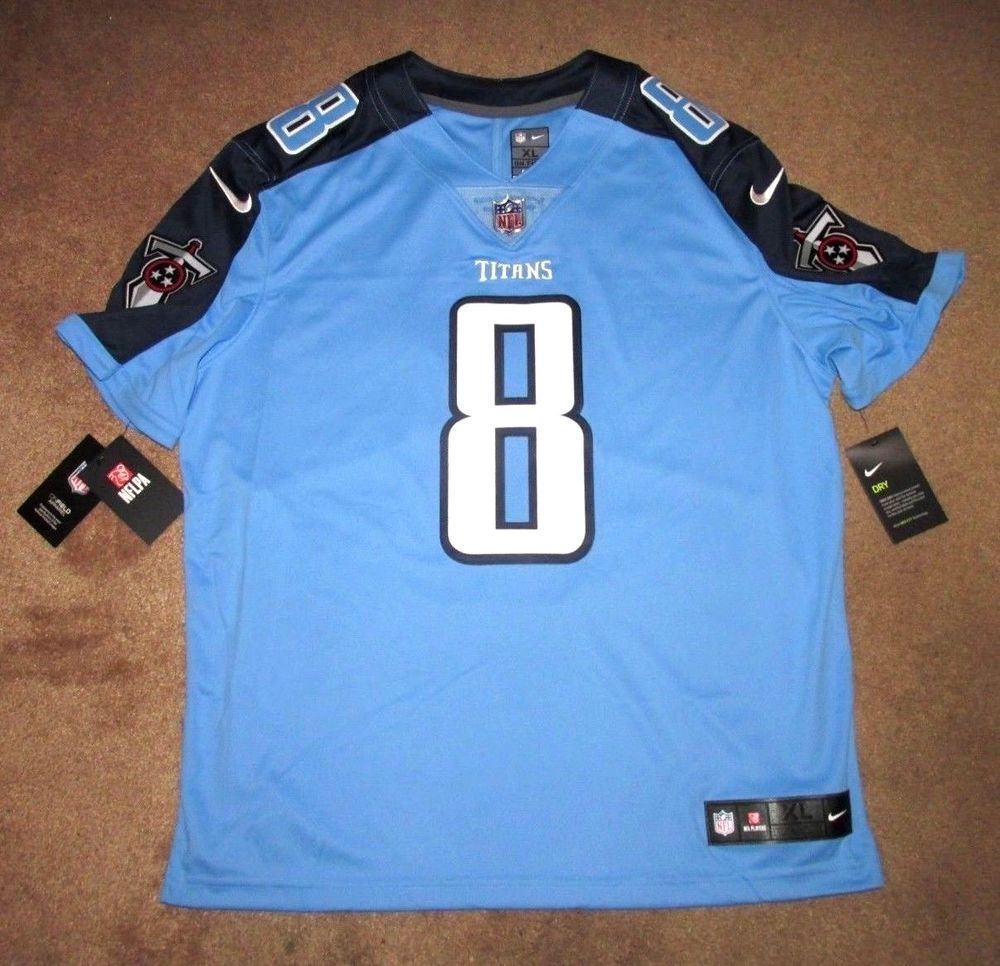 Nike Tennessee Titans Color Rush Mariota  8 Sewn Limited Mens Jersey 836022  434  Nike  TennesseeTitans  NFLColorRush d7c9d312c