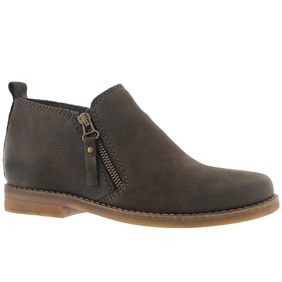 Women's MAZIN CAYTO dark brown zip up casual boots (With