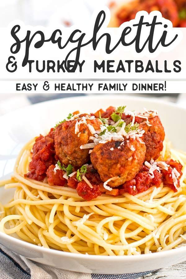 and Turkey Meatballs This Spaghetti and Turkey Meatballs recipe makes the BEST healthy homemade turkey meatballs  serve with spaghetti for a delicious kidfriendly meal Th...