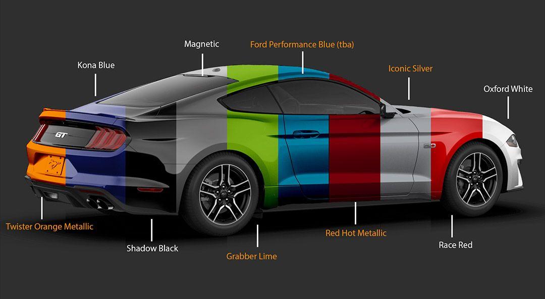 Neue Farben Fur Den 2020 Ford Mustang Ford Mustang Mustang