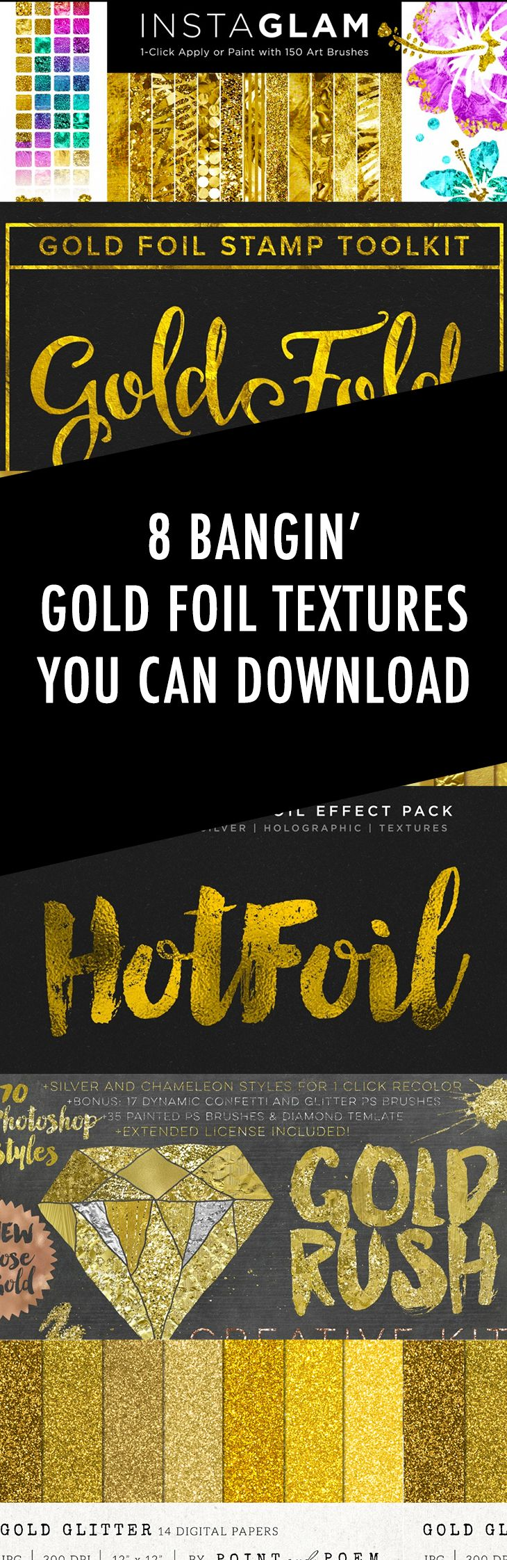 8 Bangin' Gold Foil Textures + Backgrounds You Can
