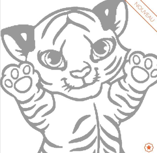 Coloriage b b tigre toutes mes publications pinterest dessin tigre coloriage b b et - Dessin de tigre facile ...