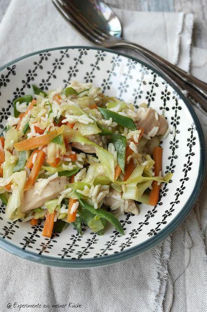 Asiatische Reispfanne mit Erdnuss-Sauce Asia, Risotto and Food - experimente aus meiner küche
