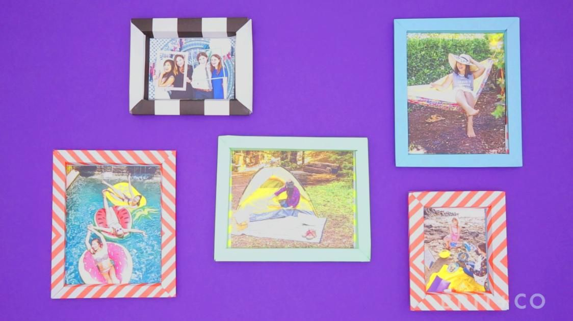 How To Make Paper Picture Frames Paper Picture Frames Diy