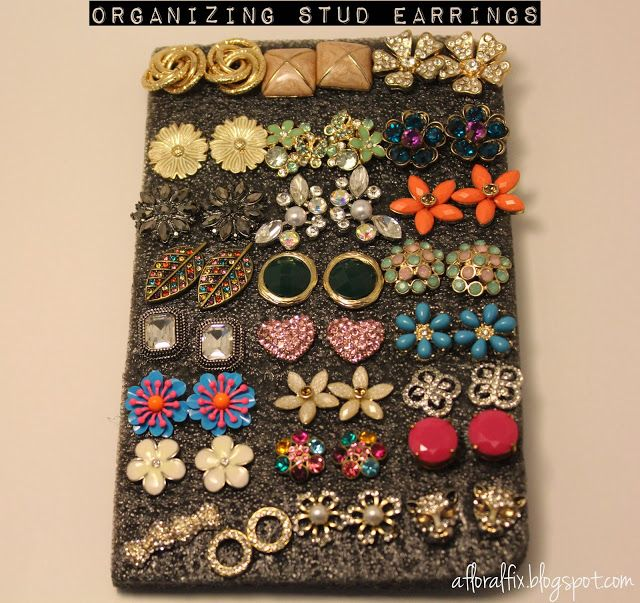 How To: Organize Stud Earrings