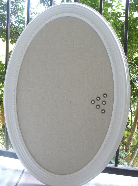 bulletin board oval MEMO BOARD jewelry organizer Pin by MyPerch