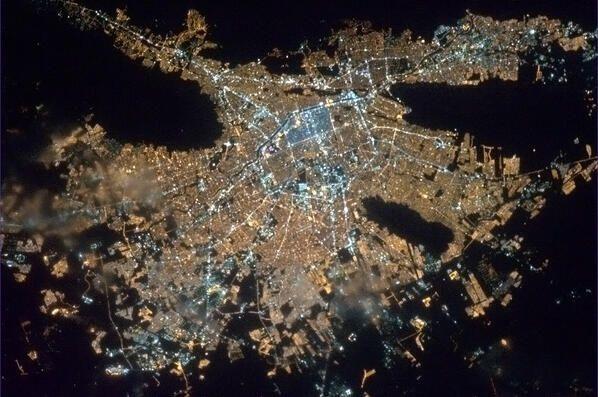 Monterrey, México visto desde el espacio