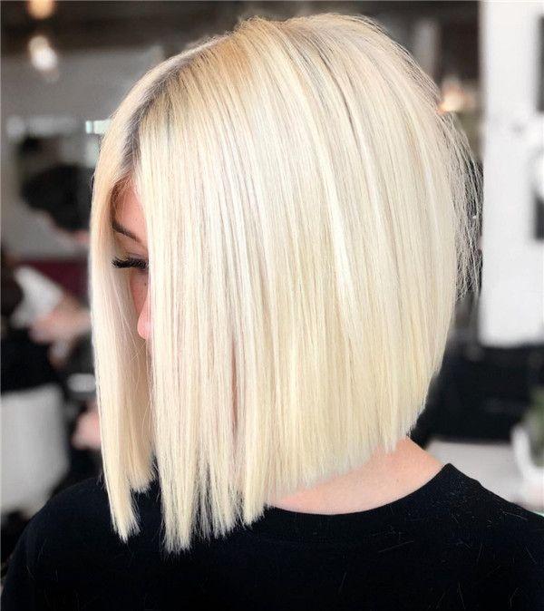 Épinglé par Dgo sur Carré plongeant blond en 2020 | Carré plongeant blond, Coupe de cheveux ...