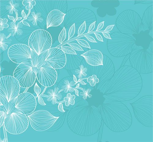 Lines of flowers background free vector 05 a4 Pinterest