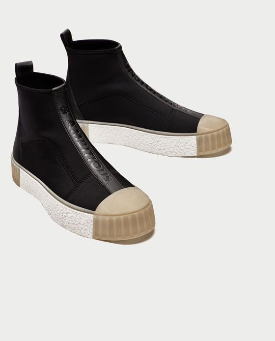 87566a6079c49 Image 3 of HIGH TOP SNEAKERS WITH TOE CAP from Zara | Walk the Earth ...