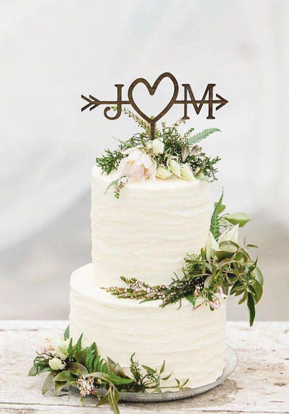 Rustikaler Hochzeitspfeil Cake Topper #bridalshowerdecorations