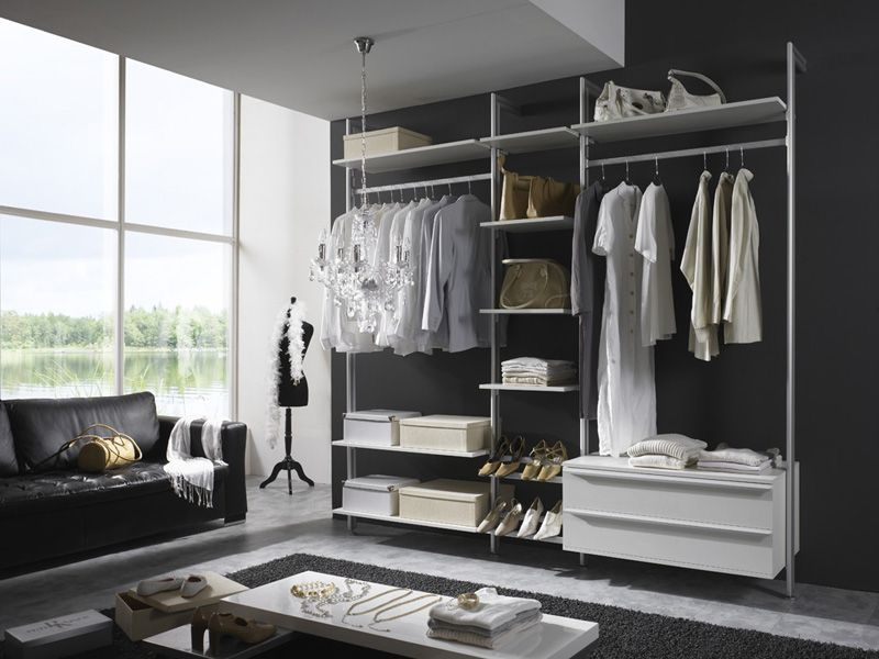 eins f r alles begehbarer kleiderschrank garderobe wandregal stylight kleiderschr nke. Black Bedroom Furniture Sets. Home Design Ideas