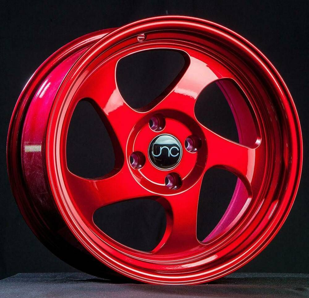 Advertisement Ebay 17x8 17x9 Jnc 034 Jnc034 5x100 30 25 Candy Red Wheel New Set 4 Red Candy Wheel Rims Wheel