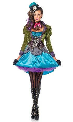Deluxe Costume Alice au pays des Merveilles Carnaval contes Chapelier Déguisement Femmes