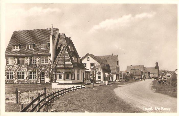 oude ansichtkaart De Koog Texel