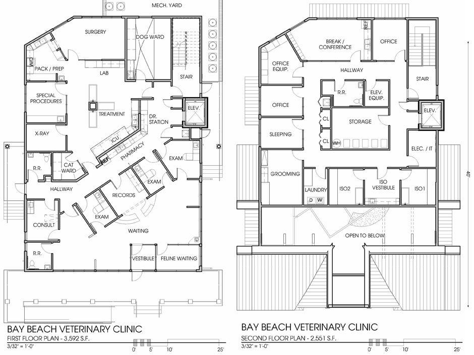 Vet Clinic Floor Plans: Veterinary Floor Plan: Bay Beach Veterinary Hospital