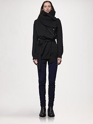 Ann Demeulemeester - Zip-Off Collar Cardigan - Saks.com  - Lots of ways to wear this. It was fun to play with.  Unless I win the lottery, there's no way.