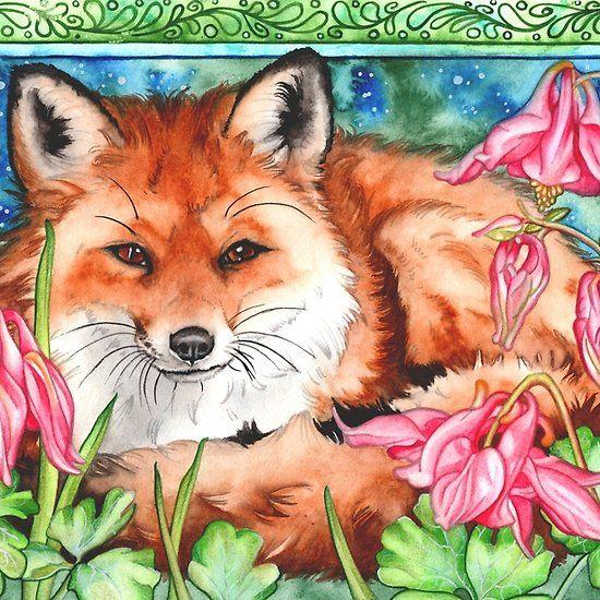 mr fox watercolor artnadine thome art prints