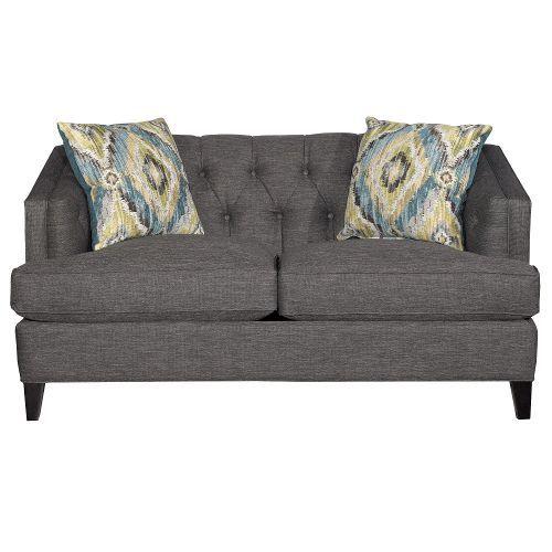 Superb Mid Century Modern Graphite Gray Loveseat Nixon Moms Pabps2019 Chair Design Images Pabps2019Com