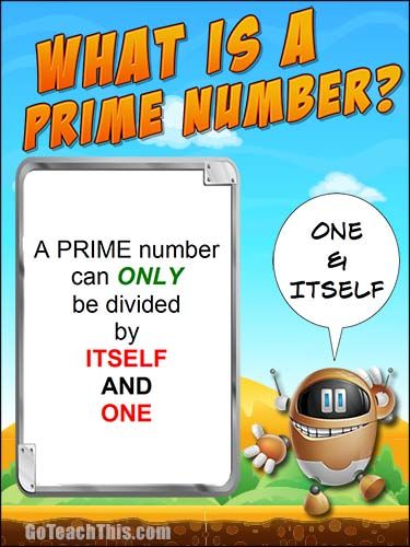 What is a prime number? A Free Printable Poster for your Math Wall ...