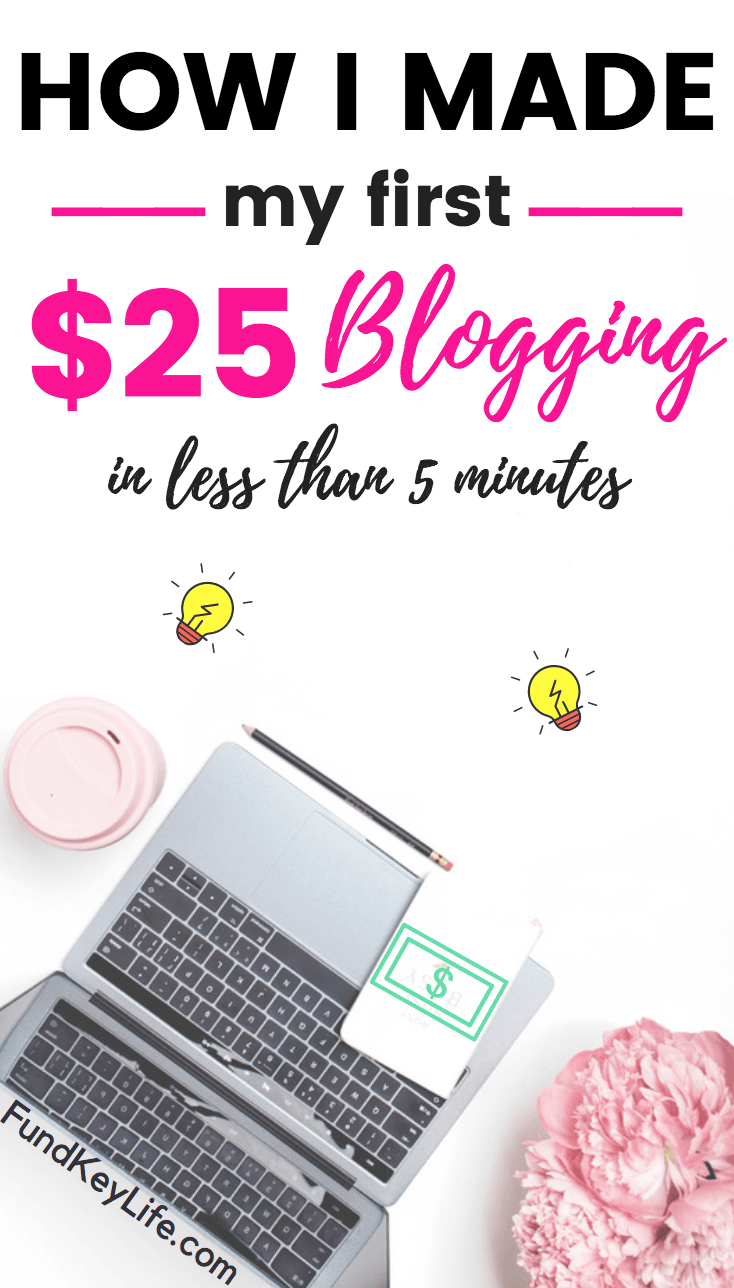 How I Made My Very First 25 Blogging In Less Than 5 Minutes