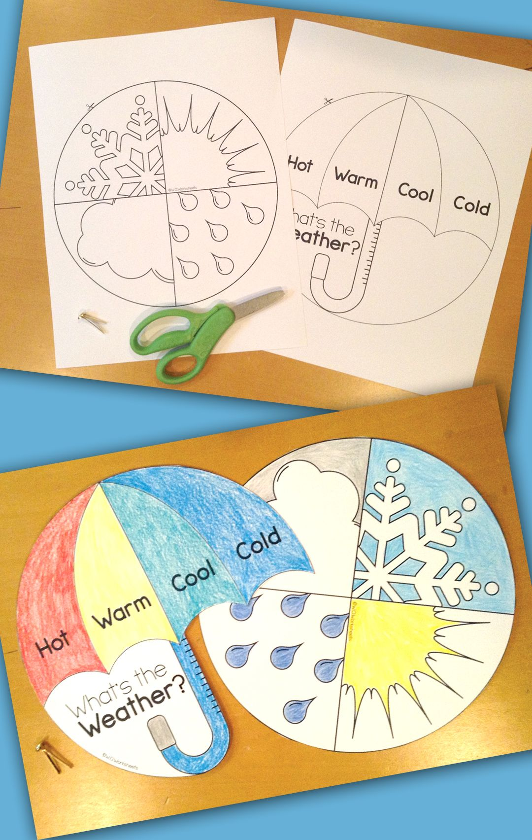 Fun Weather Craft And Worksheets For First Grade And