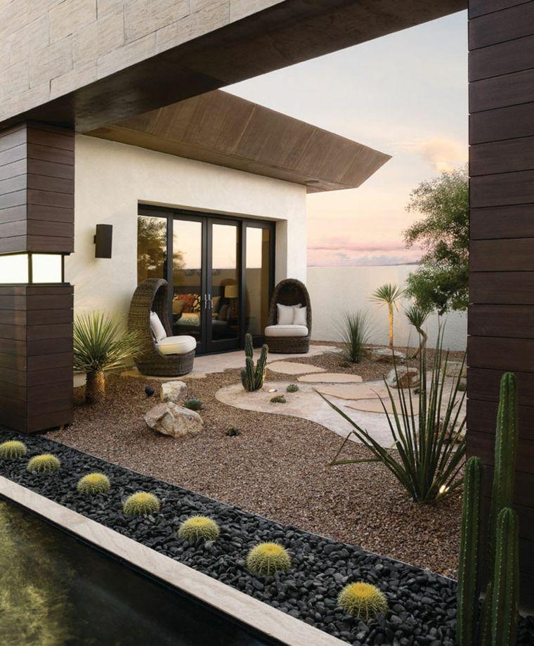 Le jardin sur gravier  astuces et idées déco Jardín interior - mettre du gravier dans son jardin